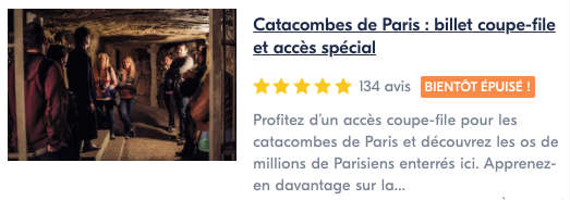 catacombes billet